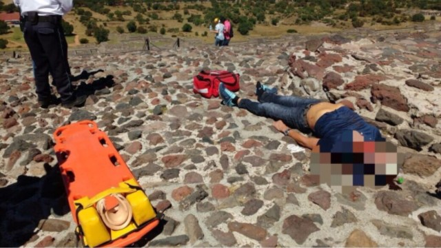 Muere turista alemán en pirámide de Teotihuacán