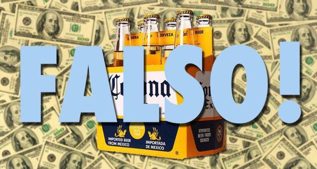 #Falso: el fundador de la cerveza Corona NO hizo millonario a su pueblo
