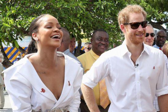 Rihanna se divierte con el príncipe Harry