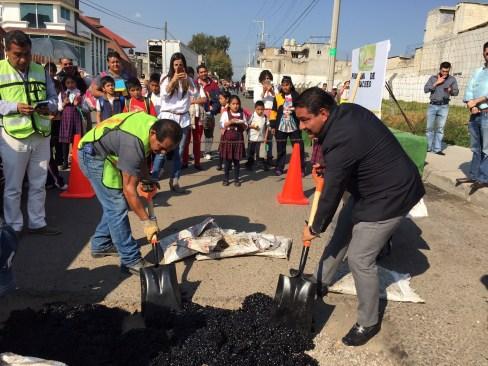 Arrancan Programa de Bacheo en todo el Municipio de Capulhuac