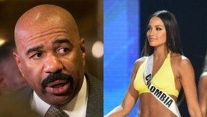 Lo que Miss Colombia le dijo a Steve Harvey