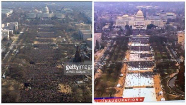 Comparan asistencia a ceremonia de investidura de Donald Trump