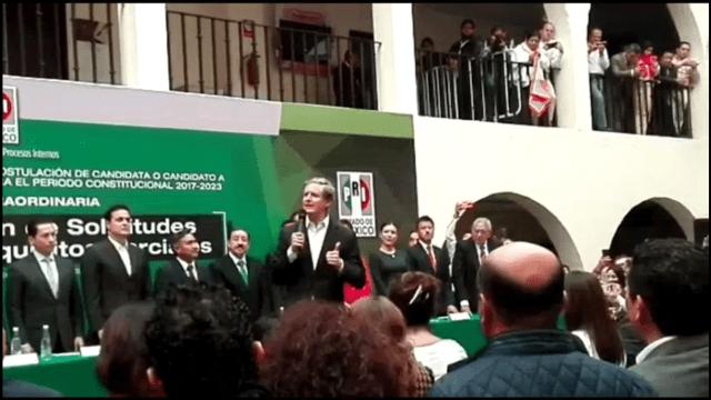 Alfredo del Mazo se registra como precandidato del PRI por el Edomex