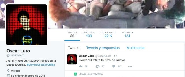 Secta 100tifika, detrás de saqueos en México