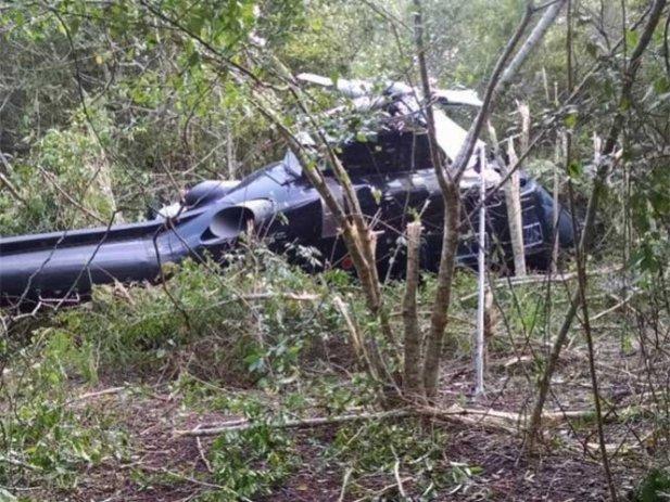 Cae helicóptero en la zona de El Tajín