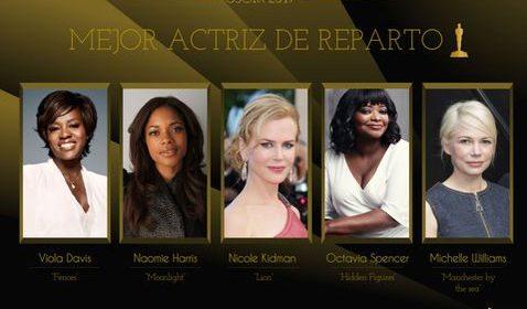 Nominadas Oscar Mejor Actriz 2017