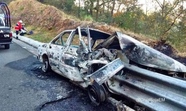 Accidente en Valle de Bravo dejó una persona calcinada