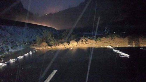 Deslave por granizada y lluvia en la México – Toluca