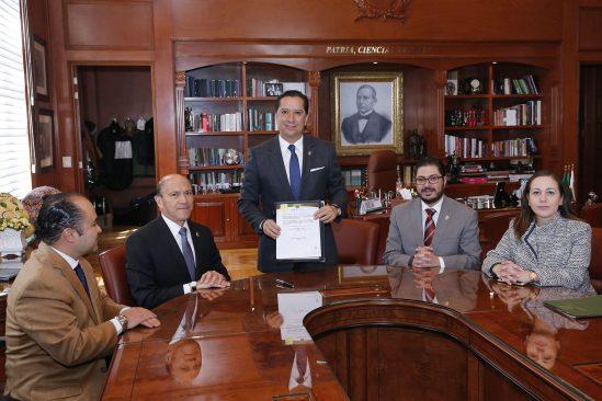 Firmó Jorge Olvera acuerdo para establecimiento de Programa Universitario de Prevención y Seguridad