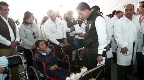 En dos días, especialistas del IMSS realizaron más de 100 intervenciones quirúrgicas por pie plano en Chalco
