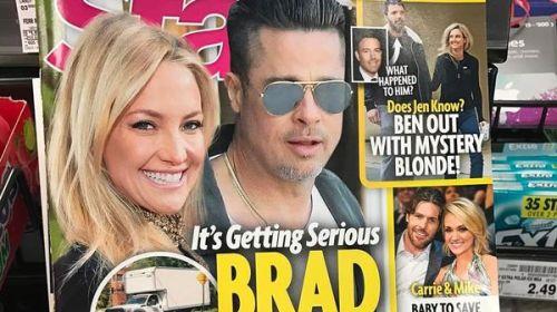 Las fotos de Kate Hudson que desmienten los rumores de una relación con Brad
