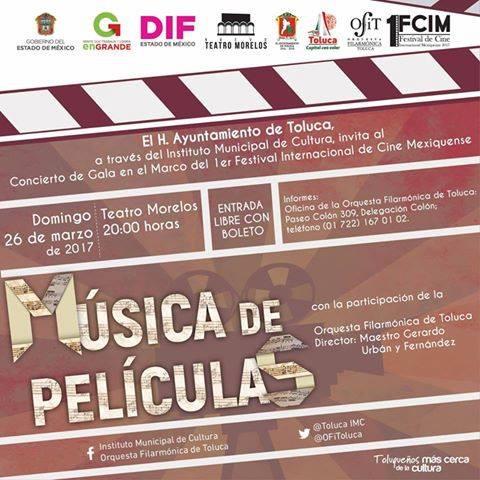 Invita OFiT al Concierto de Música de Películas
