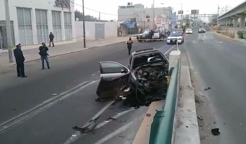 Muere mujer en fuerte accidente en San Mateo Atenco