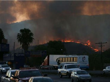 Tepopote se declara en estado de emergencia por incendio en cerro