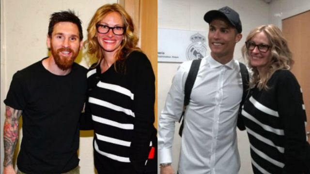 Julia Roberts, la estrella invitada del Real Madrid que quiso una foto con Messi