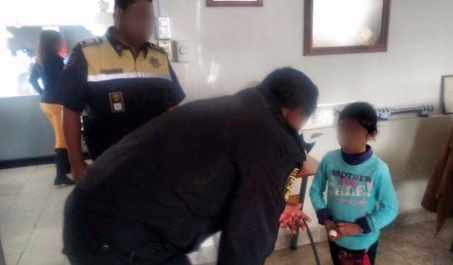 Menor es abandonada en la terminal de Toluca