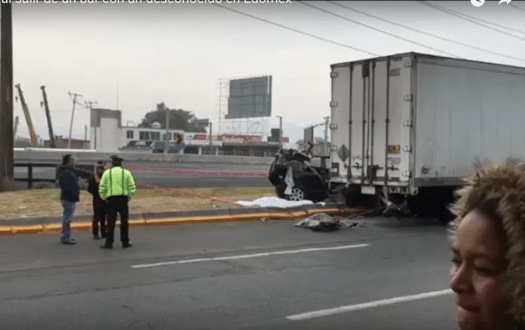 VIDEO: Muere una joven en accidente en la México-Toluca, conductor huyó