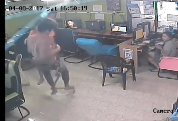 VIDEO: Serpiente ataca a niños en Café Internet de Tailandia