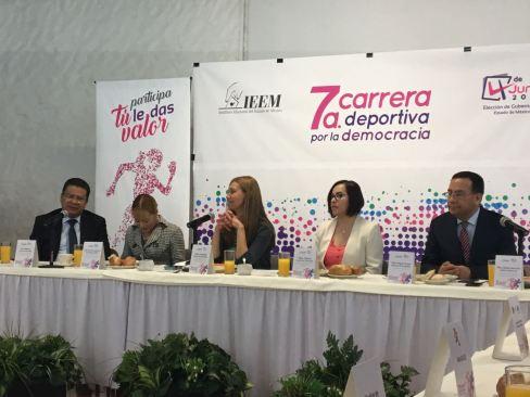 Convoca IEEM a la séptima Carrera Deportiva por la Democracia