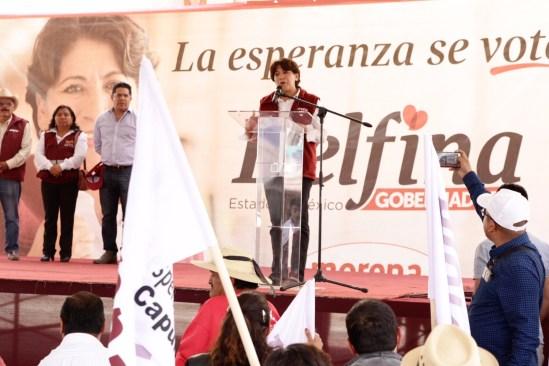 No más casas blanca; Morena gobernará con transparencia en Edomex: Delfina Gómez