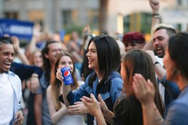 Pepsi PR On-Set With Kendall Jenner