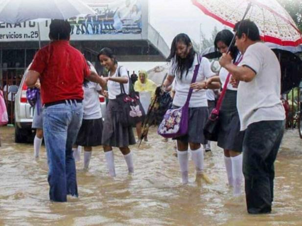 Lluvia deja dos días sin clases en Oaxaca