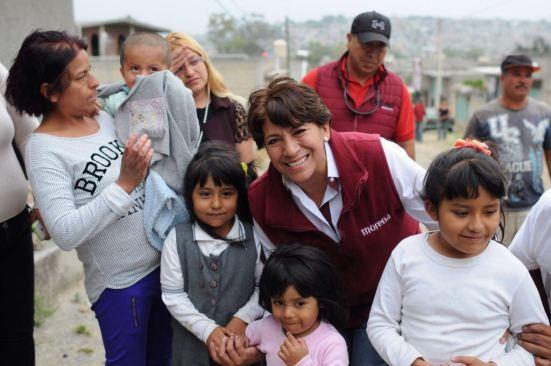 Habrá educación y salud  universal gratuita en el Estado de México: Delfina Gómez