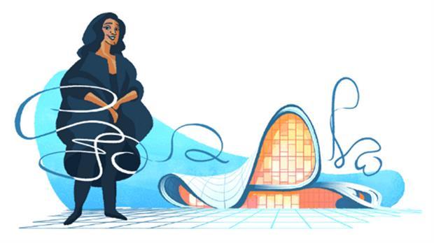 Google homenajea a la premiada arquitecta iraquí Zaha Hadid