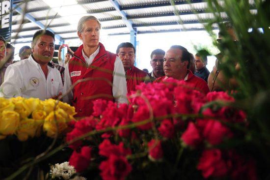 Anuncia Alfredo Del Mazo construcción de central de abastos para  incrementar comercialización de flores
