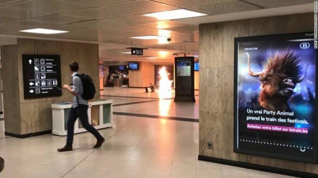 Evacúan estación de tren en Bruselas tras reportes de una explosión