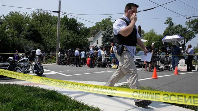 Momento exacto del tiroteo cerca de Washington D.C