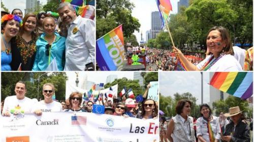 Politicos marchan con la comunidad gay