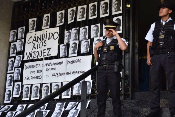 Protestan periodistas por asesinato de Cándido Ríos