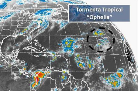Tormenta tropical 'Ophelia' en el Atlántico
