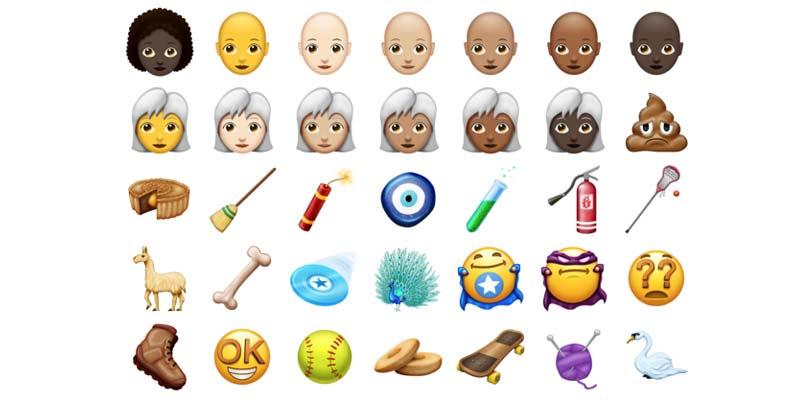 Estos emojis podrían llegar en 2018
