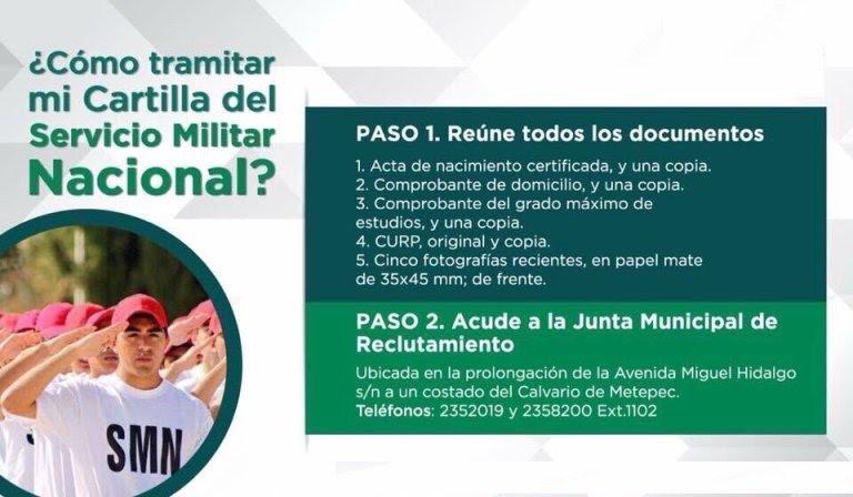 Invita Metepec A Tramitar Cartilla Del Servicio Militar Nacional