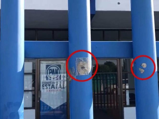 Atacan a balazos oficinas del PAN en Ciudad Victoria