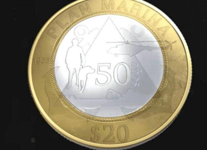 Ésta es la nueva moneda conmemorativa de 20 pesos