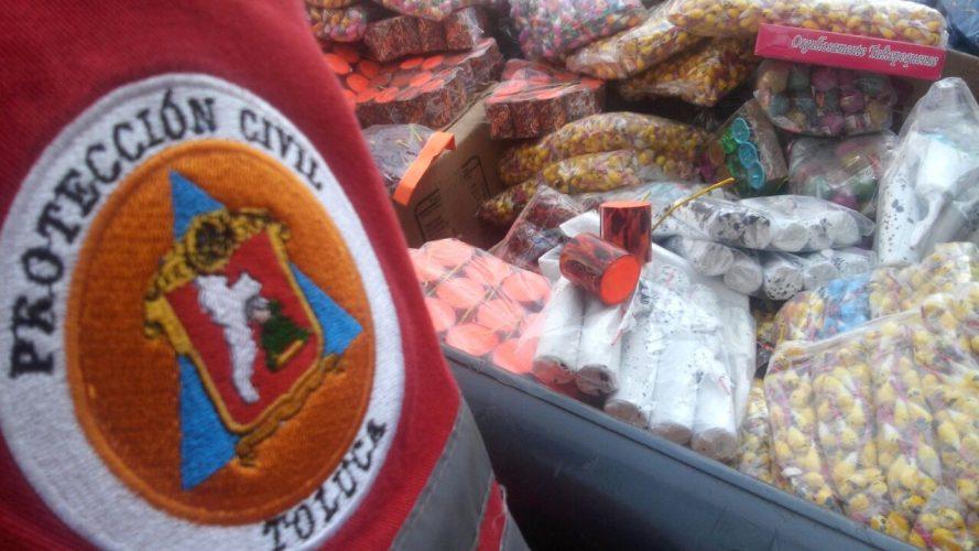 Inicia operativo Marte para inhibir la venta ilegal de pirotecnia en Toluca