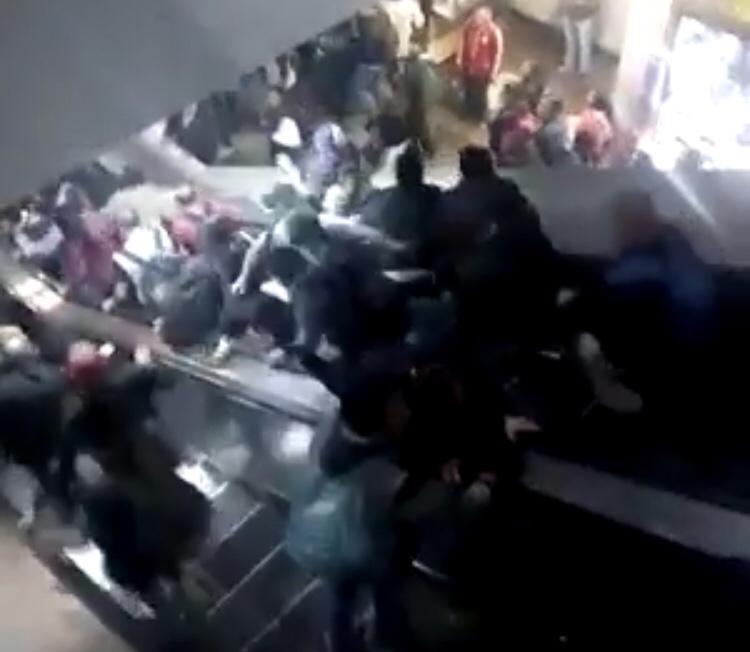#Vídeo Accidente en escaleras eléctricas del metro