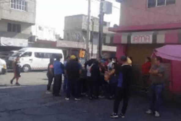 Los asaltan mientras protestan por en Naucalpan
