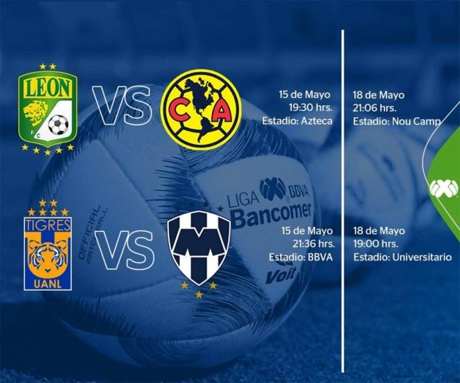 Todo listo para las semis del fútbol mexicano
