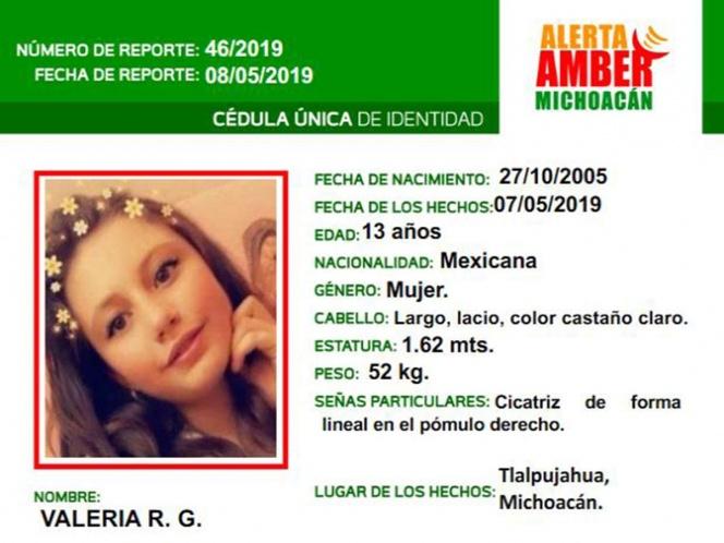 Desaparece en Michoacán otra niña más