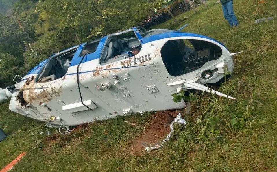Delincuentes derriban helicóptero al sur del Edomex