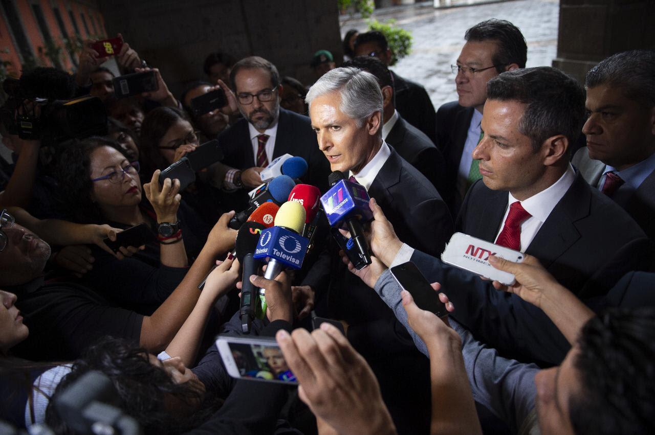 Gobernadores Priistas del país respaldan la postura de AMLO al diálogo con Estados Unidos: Alfredo del Mazo