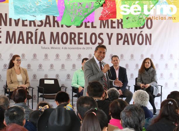 Mercado Morelos, motivo de orgullo toluqueño: Juan Rodolfo