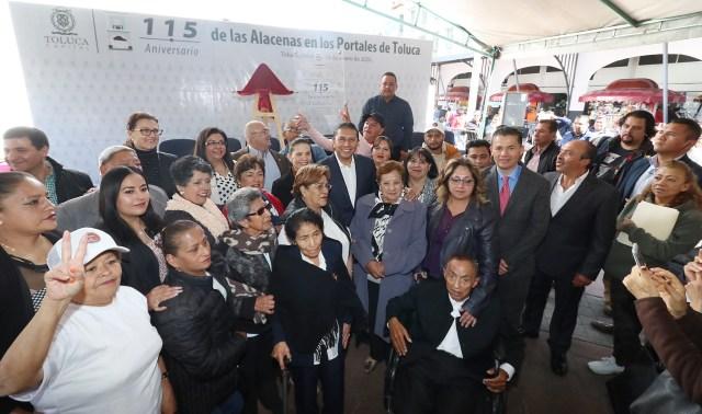 Celebran el 115 aniversario de las Alacenas de Los Portales de Toluca