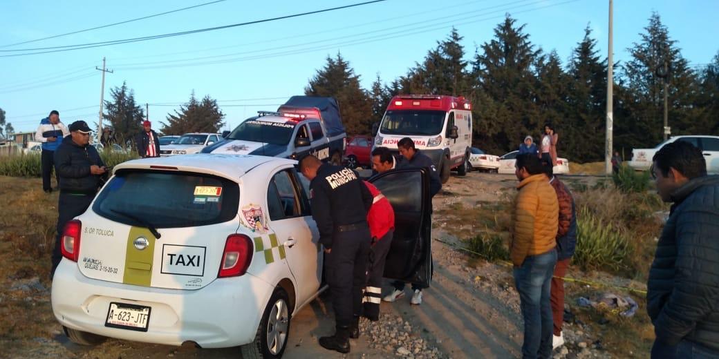 Ejecutan a taxista de Toluca en Almoloya de Juárez