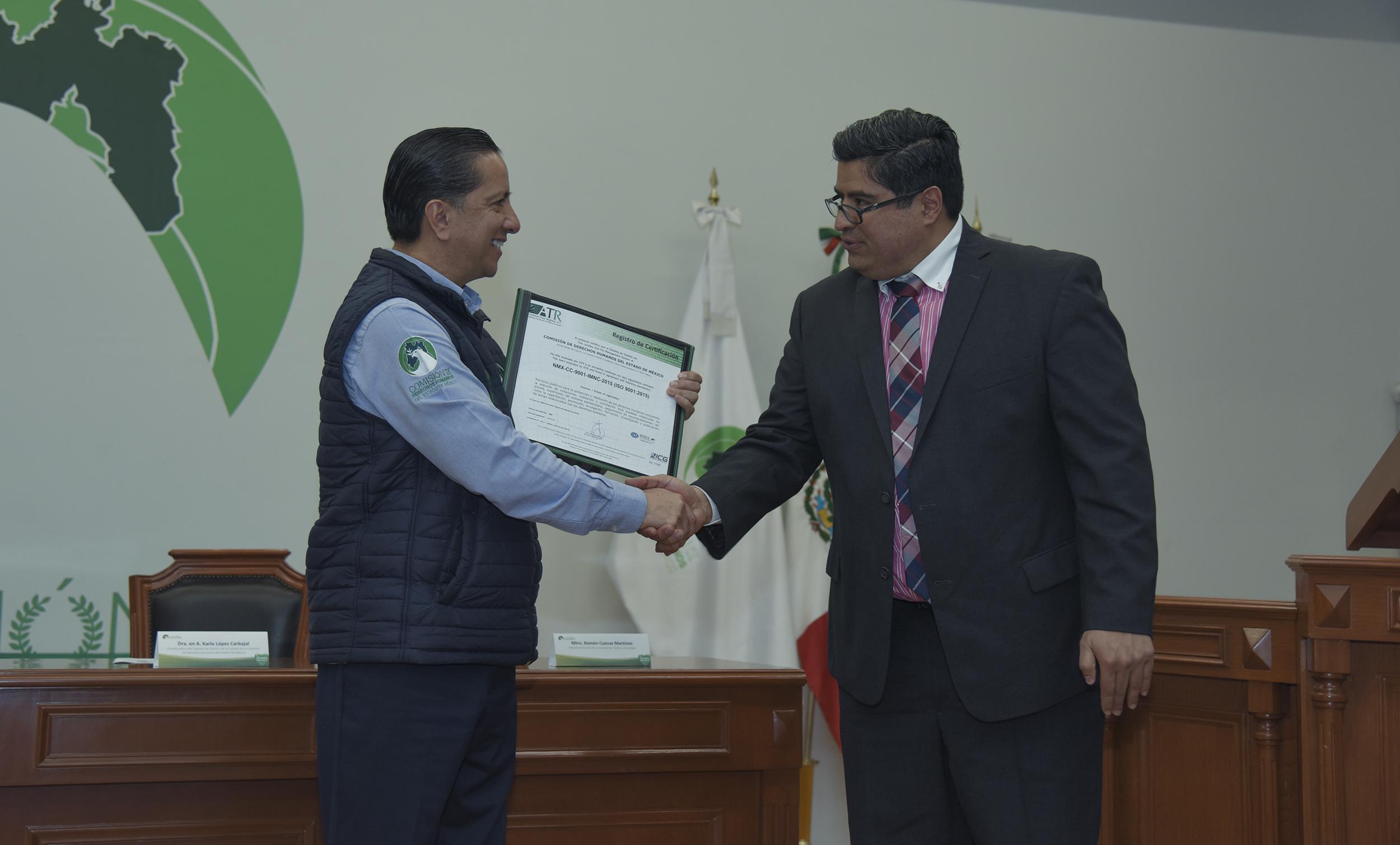 CODHEM recibe el certificado de calidad de sus procesos y servicios
