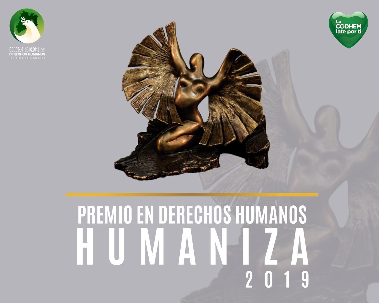 Ya hay ganadores del Premio Humaniza 2019, de la CODHEM
